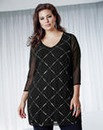 Anna Scholz Sequin & Bead Tunic Top