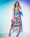 Grazia Print Belted Dress