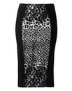 Kelly Brook Print Panel Pencil Skirt