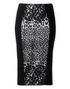 Kelly Brook Print Panel Pencil Skirt