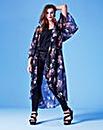 Grazia Printed Long Kimono Shrug Top