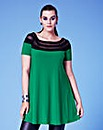 Grazia Mesh Trim Jersey Tunic Top