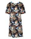 Oriental Print A-Line Dress