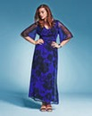 BESPOKEFit Floral Maxi Dress-Voluptuous