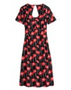 Poppy Print Tea Dress - Regular