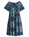 Folk Print Smock Dress - Petite