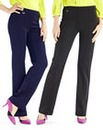 Pack of 2 Pull on Trousers Length 27in