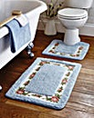 Quick Dry Microfibre Roses Bath Mat