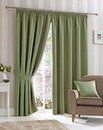 Plain Dye Woven Curtains Ring