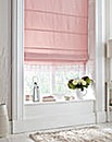 Deco Rose Roman Blind With Macrame Trim