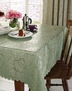 Rose Jacquard Table Linen Scallop Edge