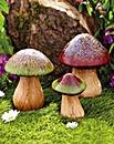 Porcelain Garden Toadstools Set of 3