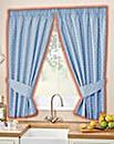 Polka Dot Thermal Kitchen Curtain