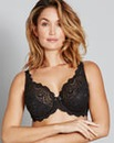 Playtex Flower Lace Black Wired Bra