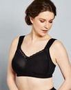 Miss Mary Comfort Non Wired Black Bra