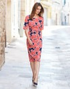 Floral Print Twist Knot Dress