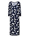 Floral Print Jersey Midi Dress