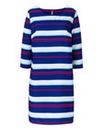 Navy Stripe Print Tunic Dress