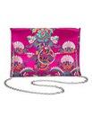 Sophie Jacquard Ring Detail Clutch Bag