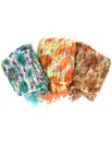 Set Of 3 Double Sided Rose Print Scarves