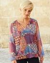 Aztec Print Gypsy Blouse