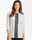 Spot Print & Lace Blouse