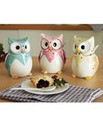 Owl Condiment Jar with Spoon