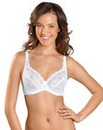 Naturana White Elasticated Lace Cup Bra