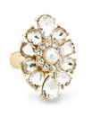 Mood Diamante Baroque Stretch Ring