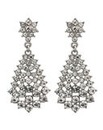 Mood Diamante Cluster Teardrop Earrings