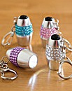 Diamante Keyring Torches Set of 4