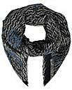 Armani Jeans Logo Navy Wool Scarf