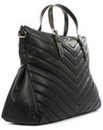 Armani Jeans Quilted Black Top Zip Bag