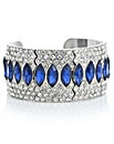 Mood Blue crystal ornate cuff bracelet