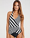 Monochrome Stripe Swimsuit