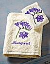 Personalised Freesia Hand Towel Set