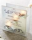 Serenity Prayer Glass Tea Light Holder