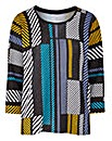 Graphic Print Crew Neck Jumper