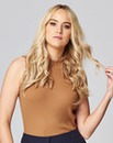 Toffee Sleeveless Rib Top