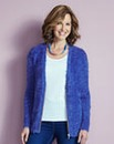 Iris Blue Fluffy Cardigan With Zip