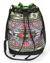 Embroidered Duffle Backpack