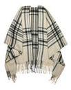 Pieces Grey Check Blanket Wrap