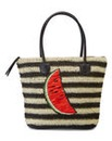Watermelon Straw Beach Tote Bag