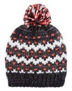 Knitted Heart Bobble Hat