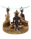 Brown and Gold Thai Buddha Oil Burner