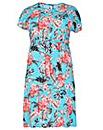 emily Floral Side Split Dress