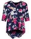 Koko Rose Print Wrap Back Blouse