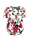 Koko Rose Print PU Trim Tunic