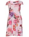 Feverfish Flower Print Flared Dress