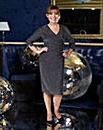 Lorraine Kelly Glitter Side Ruched Dress